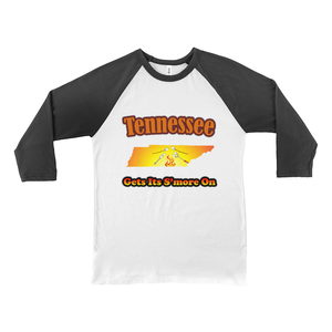 Tennessee Gets Its S'more On! Novelty Baseball Tee (3/4 sleeves) - CampWildRide.com