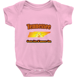 Tennessee Gets Its S'more On! Novelty Infant One-Piece Baby Bodysuit - CampWildRide.com
