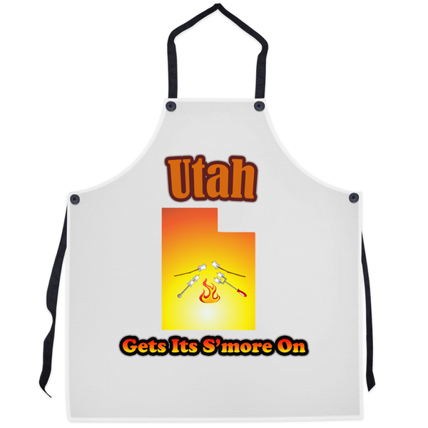 Utah Gets Its S'more On! Novelty Funny Apron - CampWildRide.com