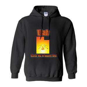 Utah Gets Its S'more On! Novelty Hoodies (No-Zip/Pullover) - CampWildRide.com