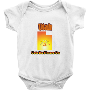 Utah Gets Its S'more On! Novelty Infant One-Piece Baby Bodysuit