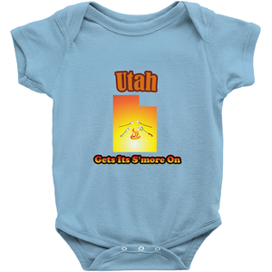 Utah Gets Its S'more On! Novelty Infant One-Piece Baby Bodysuit - CampWildRide.com
