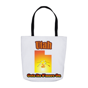 Utah Gets Its S'more On! Novelty Funny Tote Bag Reusable - CampWildRide.com