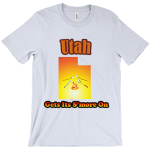 Utah Gets Its S'more On! Novelty Short Sleeve T-Shirt - CampWildRide.com