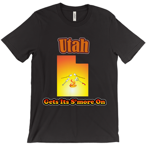 Utah Gets Its S'more On! Novelty Short Sleeve T-Shirt