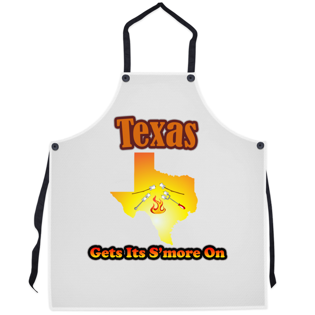 Texas Gets Its S'more On! Novelty Funny Apron - CampWildRide.com