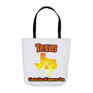 Texas Gets Its S'more On! Novelty Funny Tote Bag Reusable - CampWildRide.com