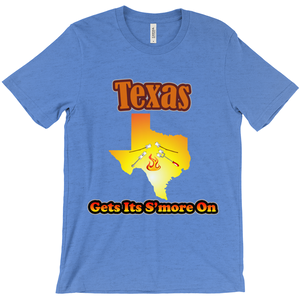 Texas Gets Its S'more On! Novelty Short Sleeve T-Shirt - CampWildRide.com
