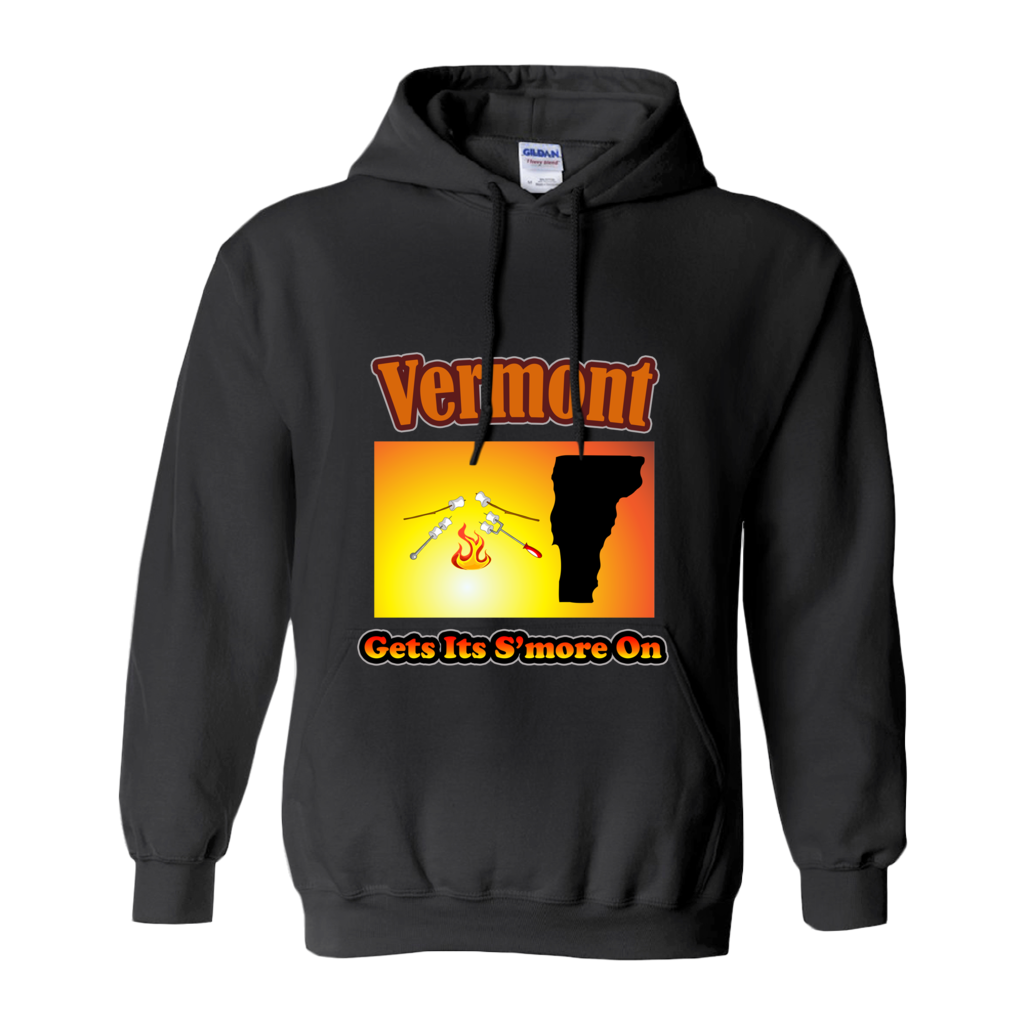 Vermont Gets Its S'more On! Novelty Hoodies (No-Zip/Pullover) - CampWildRide.com