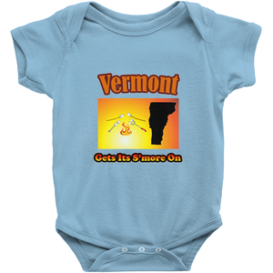 Vermont Gets Its S'more On! Novelty Infant One-Piece Baby Bodysuit