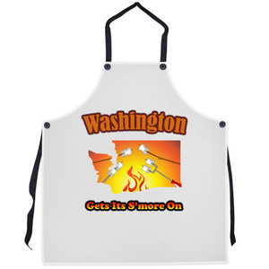 Washington Gets Its S'more On! Novelty Funny Apron - CampWildRide.com