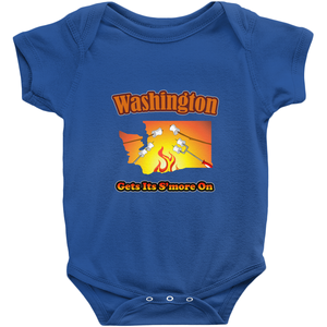Washington Gets Its S'more On! Novelty Infant One-Piece Baby Bodysuit - CampWildRide.com
