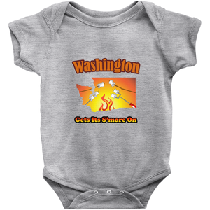 Washington Gets Its S'more On! Novelty Infant One-Piece Baby Bodysuit
