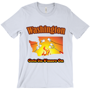 Washington Gets Its S'more On! Novelty Short Sleeve T-Shirt