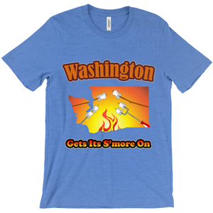 Washington Gets Its S'more On! Novelty Short Sleeve T-Shirt - CampWildRide.com