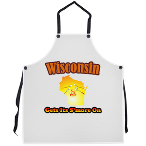 Wisconsin Gets Its S'more On! Novelty Funny Apron - CampWildRide.com
