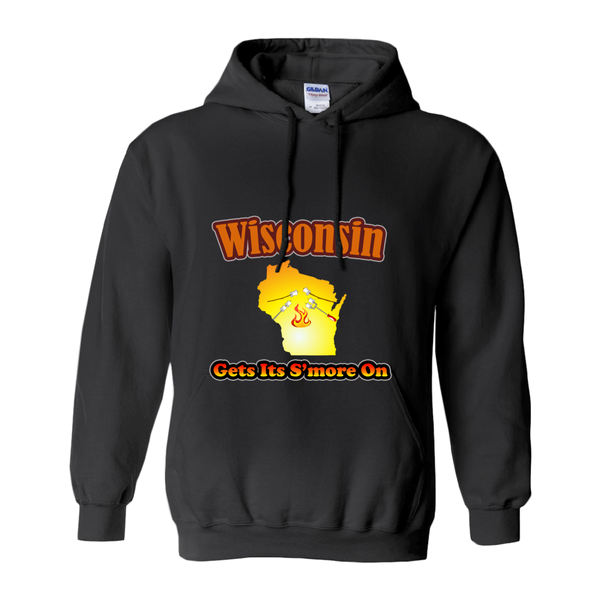 Wisconsin Gets Its S'more On! Novelty Hoodies (No-Zip/Pullover) - CampWildRide.com