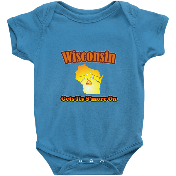 Wisconsin Gets Its S'more On! Novelty Infant One-Piece Baby Bodysuit