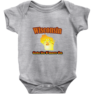 Wisconsin Gets Its S'more On! Novelty Infant One-Piece Baby Bodysuit - CampWildRide.com