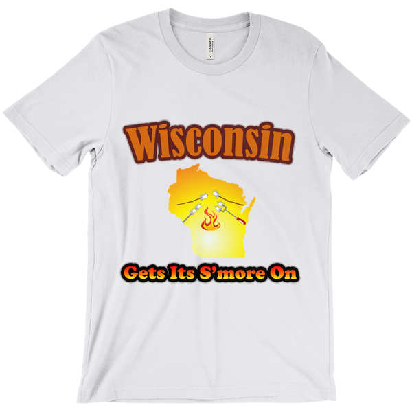 Wisconsin Gets Its S'more On! Novelty Short Sleeve T-Shirt - CampWildRide.com