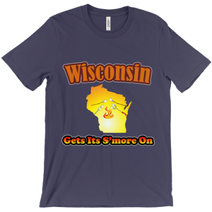 Wisconsin Gets Its S'more On! Novelty Short Sleeve T-Shirt