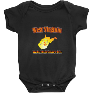 West Virginia Gets Its S'more On! Novelty Infant One-Piece Baby Bodysuit - CampWildRide.com