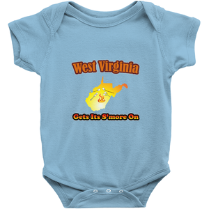 West Virginia Gets Its S'more On! Novelty Infant One-Piece Baby Bodysuit