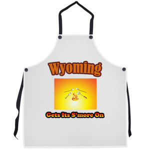 Wyoming Gets Its S'more On! Novelty Funny Apron - CampWildRide.com