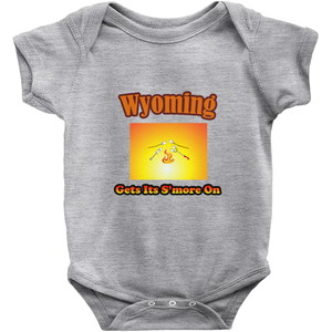 Wyoming Gets Its S'more On! Novelty Infant One-Piece Baby Bodysuit - CampWildRide.com