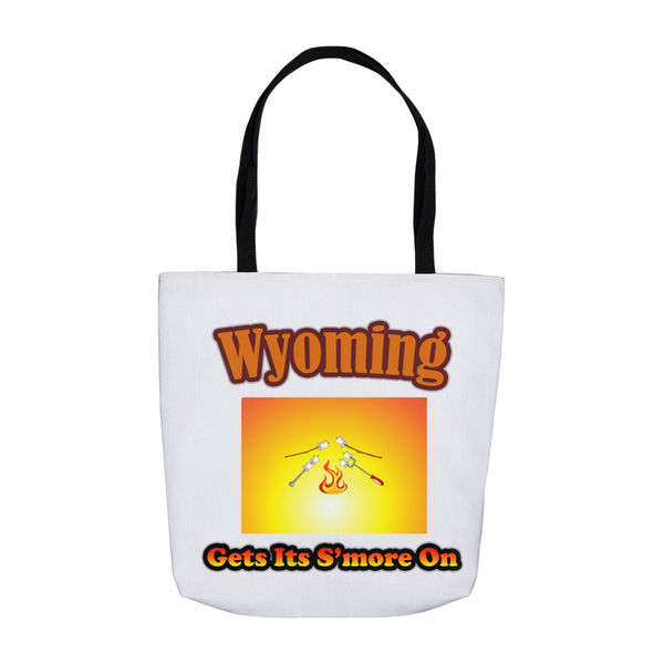 Wyoming Gets Its S'more On! Novelty Funny Tote Bag Reusable - CampWildRide.com