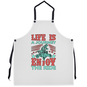 Life is a Journey, Enjoy the Ride, Fun on an ATV! Novelty Funny Apron - CampWildRide.com