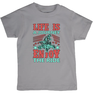 Life is a Journey, Enjoy the Ride, Fun on an ATV! Novelty Short Sleeve Youth T-Shirt - CampWildRide.com