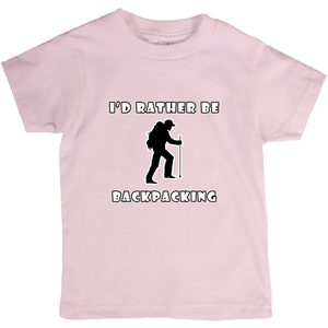 I'd Rather Be Backpacking! Novelty Short Sleeve Youth T-Shirt