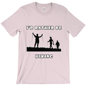 I'd Rather Be Hiking! Novelty Short Sleeve T-Shirt - CampWildRide.com