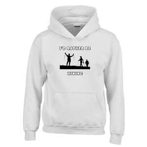 I'd Rather Be Hiking! Novelty Youth Hoodies (No-Zip/Pullover) - CampWildRide.com