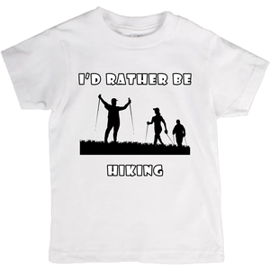 I'd Rather Be Hiking! Novelty Short Sleeve Youth T-Shirt - CampWildRide.com