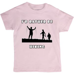 I'd Rather Be Hiking! Novelty Short Sleeve Youth T-Shirt