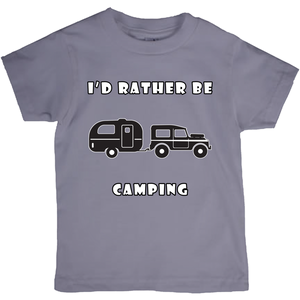 I'd Rather Be Camping-Live it in a RV! Novelty Short Sleeve Youth T-Shirt