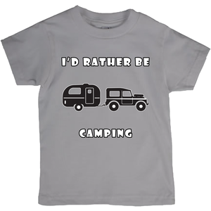 I'd Rather Be Camping-Live it in a RV! Novelty Short Sleeve Youth T-Shirt - CampWildRide.com