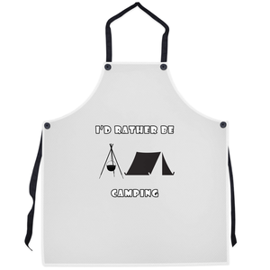 I'd Rather Be Camping-Live it in a Tent! Novelty Funny Apron