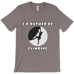 I'd Rather Be Climbing! Novelty Short Sleeve T-Shirt - CampWildRide.com