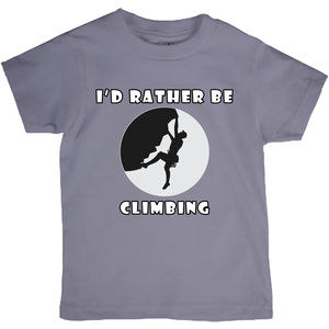 I'd Rather Be Climbing! Novelty Short Sleeve Youth T-Shirt