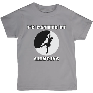 I'd Rather Be Climbing! Novelty Short Sleeve Youth T-Shirt - CampWildRide.com