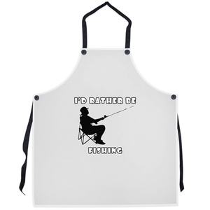 I'd Rather Be Fishing! Novelty Funny Apron - CampWildRide.com