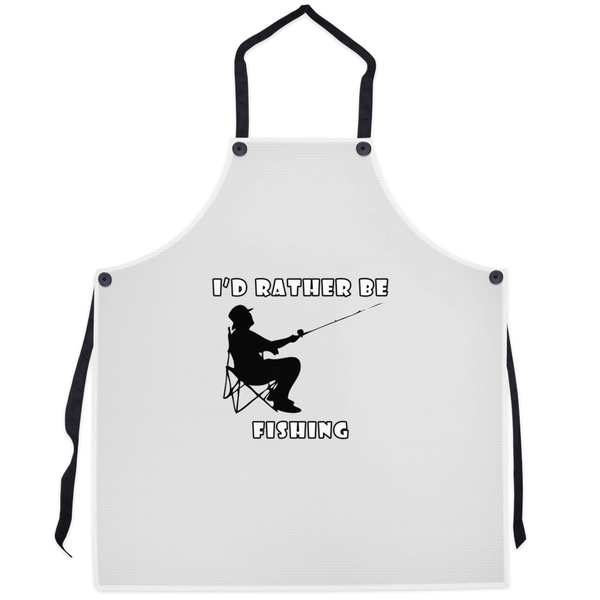 I'd Rather Be Fishing! Novelty Funny Apron