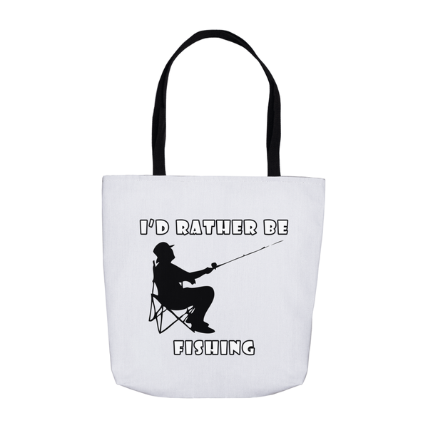 I'd Rather Be Fishing! Novelty Funny Tote Bag Reusable