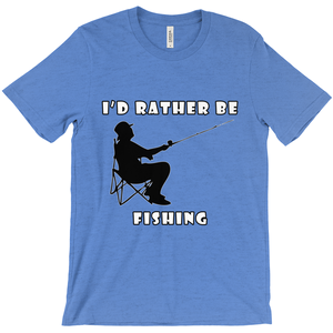 I'd Rather Be Fishing! Novelty Short Sleeve T-Shirt - CampWildRide.com