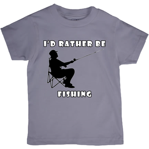 I'd Rather Be Fishing! Novelty Short Sleeve Youth T-Shirt