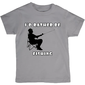 I'd Rather Be Fishing! Novelty Short Sleeve Youth T-Shirt - CampWildRide.com
