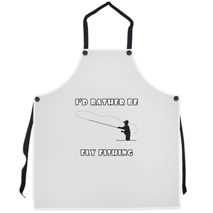 I'd Rather Be Fly Fishing! Novelty Funny Apron - CampWildRide.com